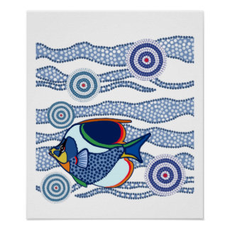 Aboriginal Fish Poster