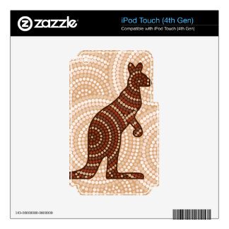 Aboriginal kangaroo dot painting decals for iPod touch 4G