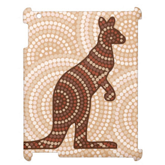 Aboriginal kangaroo dot painting iPad covers