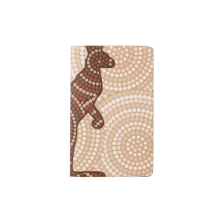 Aboriginal kangaroo dot painting pocket moleskine notebook