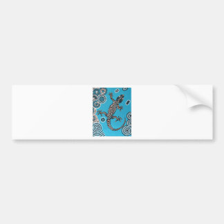 Aboriginal kind, Gecko, point painting, DOT Painti Bumper Sticker