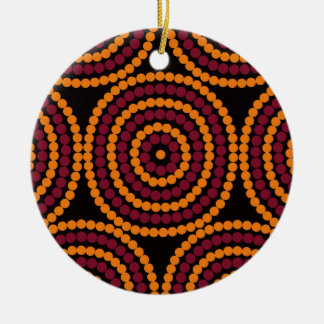 Aboriginal Life cycle Ceramic Ornament