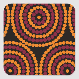 Aboriginal Life cycle Square Sticker