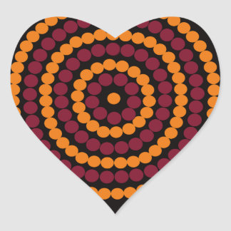 Aboriginal Life cycle Heart Sticker