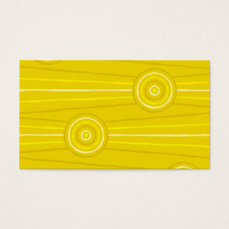 Aboriginal line and circle painting business card