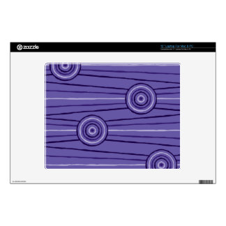 Aboriginal line and circle painting decal for laptop