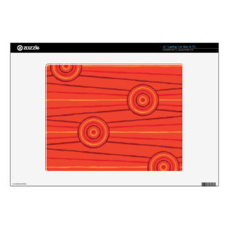 Aboriginal line and circle painting laptop decal