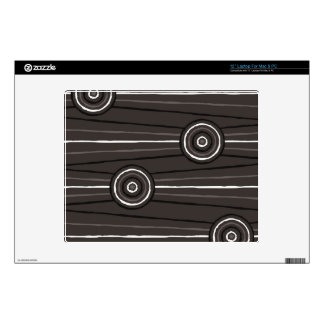 Aboriginal line and circle painting laptop decals
