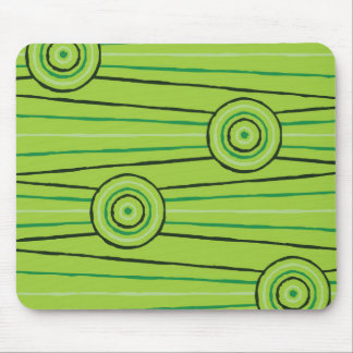 Aboriginal line and circle painting mouse pad