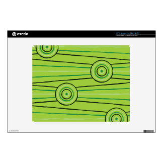 Aboriginal line and circle painting skin for laptop
