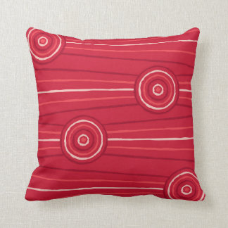 Aboriginal line and circle painting throw pillow