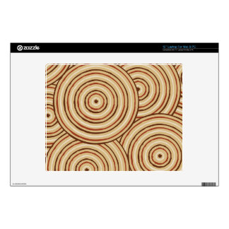 "Aboriginal line painting 12"" laptop decal"