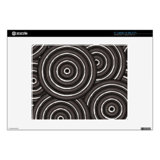 """Aboriginal line painting decal for 12"""" laptop"""