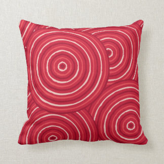 Aboriginal line painting throw pillow