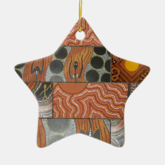 Aboriginal Main Collage .jpg Ceramic Ornament