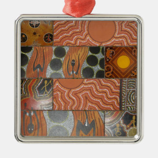Aboriginal Main Collage .jpg Metal Ornament