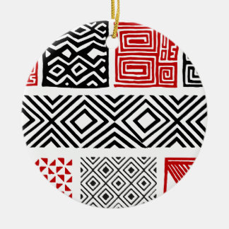 Aboriginal print nº 02 ceramic ornament