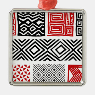 Aboriginal print nº 02 metal ornament