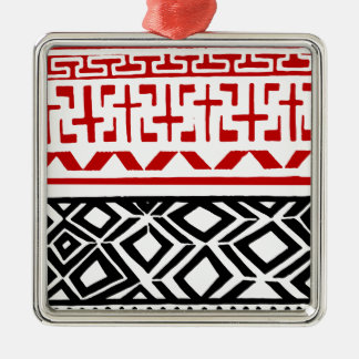 Aboriginal print nº 03 metal ornament