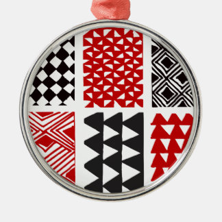 Aboriginal print nº 05 metal ornament