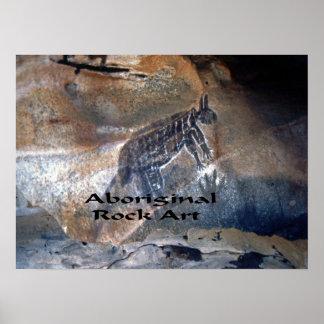 Aboriginal Rock art Poster