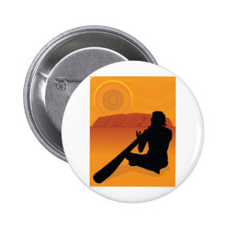 Aboriginal Silhouette Pinback Button