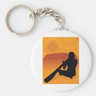 Aboriginal Silhouette Keychain