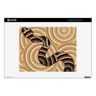 Aboriginal snake dot painting decals for laptops