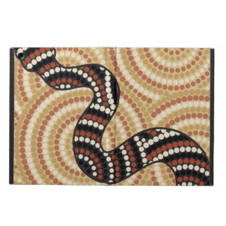 Aboriginal snake dot painting iPad air cover