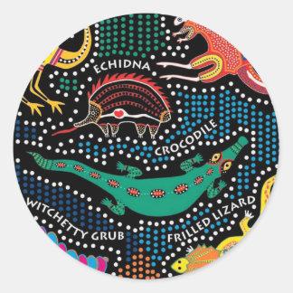 Aboriginal style classic round sticker