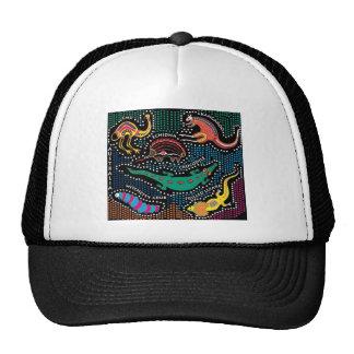 Aboriginal style trucker hat