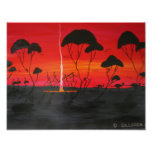Aboriginal Sunset Poster