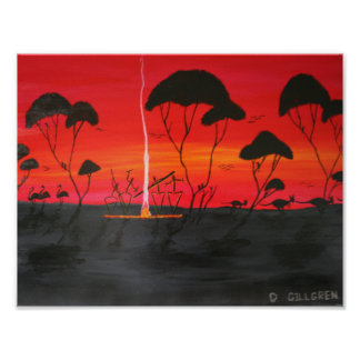 Aboriginal Sunset Poster