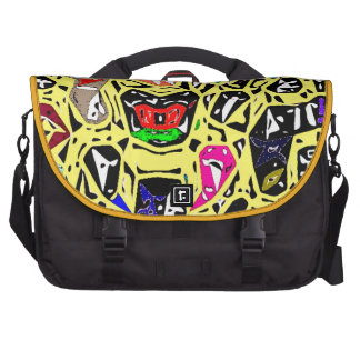 Aboriginal Surreal Yellow Commuter Bags