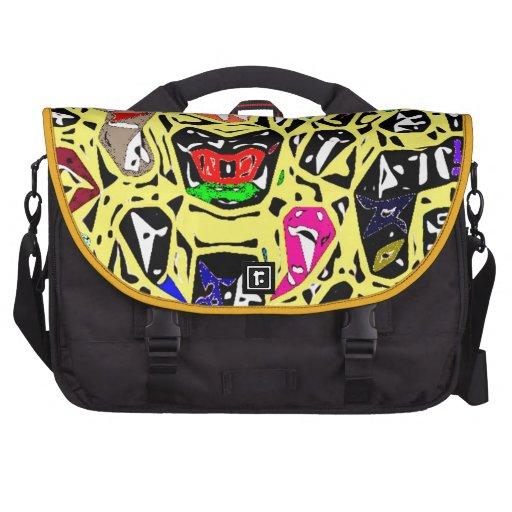 Aboriginal Surreal Yellow Commuter Bags