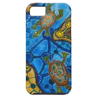 Aboriginal Turtles Painting iPhone SE/5/5s Case