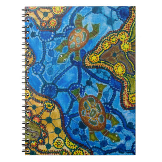 Aboriginal Turtles Painting Spiral Notebook