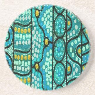 Aboriginal Wedding Coasters The Journey Blue
