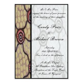 Aboriginal Wedding Invitation Eora