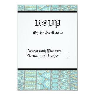 Aboriginal Wedding RSVP Card The Journey Blue