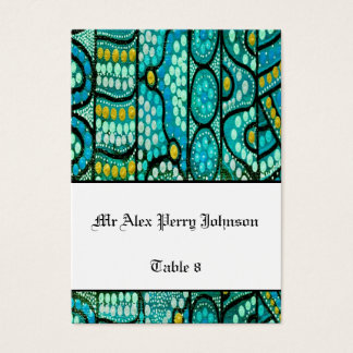 Aboriginal Wedding Table Seating The Journey Blue Business Card