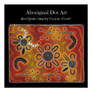 Aboriginals Camp by Tucker (food) Poster