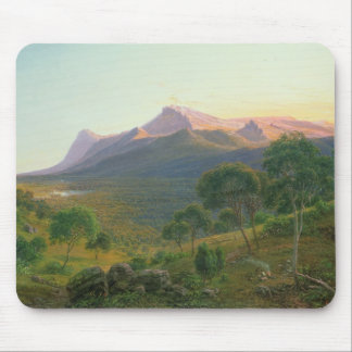 Aborigines by a Fire before Mount William Mouse Pad