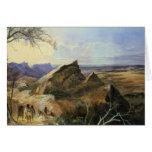 Aborigines in an Australian Landscape Card