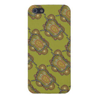 aborigines style wraps with turtle in iPhone SE/5/5s cover