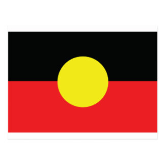 aborigini australia flag postcard