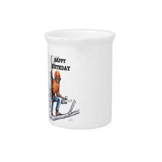 Aborist Tree surgeon Birthday present gift. Beverage Pitcher