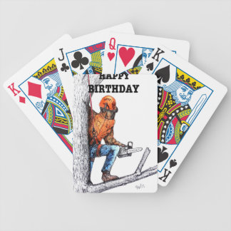 Aborist Tree surgeon Birthday present gift. Bicycle Playing Cards
