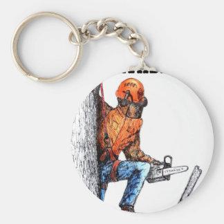 Aborist Tree surgeon Birthday present gift. Keychain