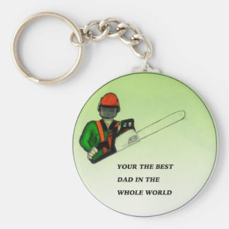 Aborist Tree surgeon Fathers Day present gift. Keychain